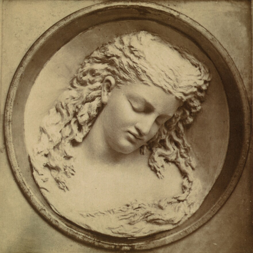 <em>Dreaming Iolanthe, </em>a butter sculpture created by Caroline Brooks for the Philadelphia Centennial Exposition in 1876