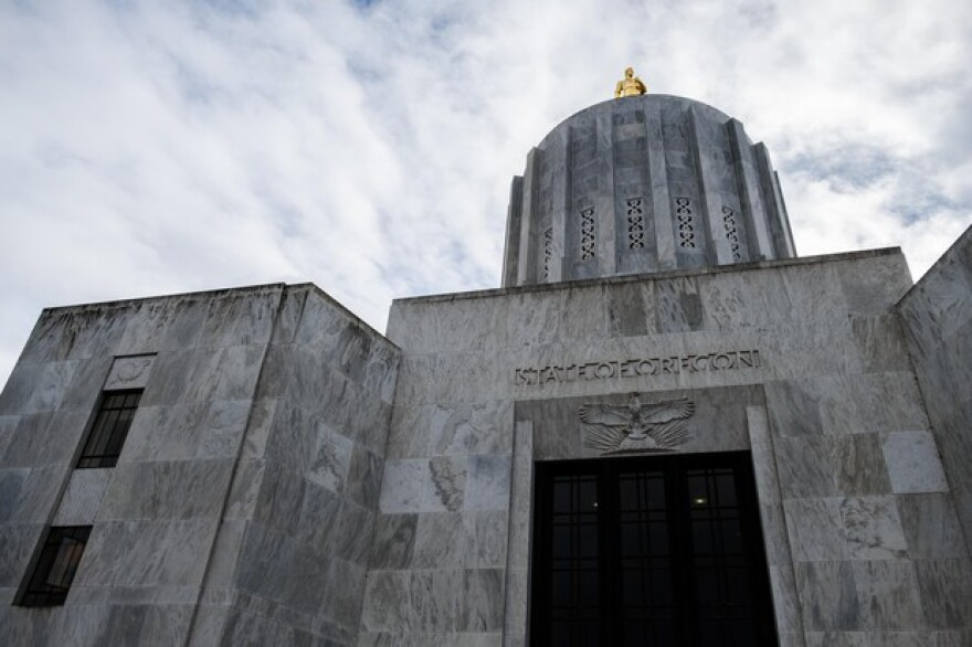 The Oregon Capitol is pictured Wednesday, Feb. 20, 2019, in Salem, Ore.