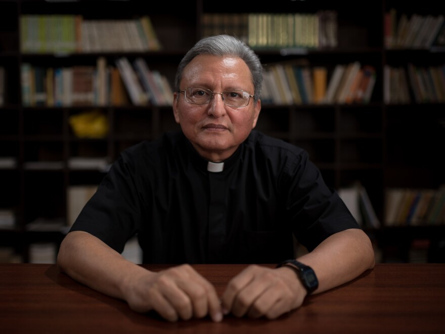 "José Alberto ""Chepe"" Idiáquez, a Catholic priest and rector at a private Jesuit university in Nicaragua, has become an outspoken critic of Nicaraguan President Daniel Ortega."