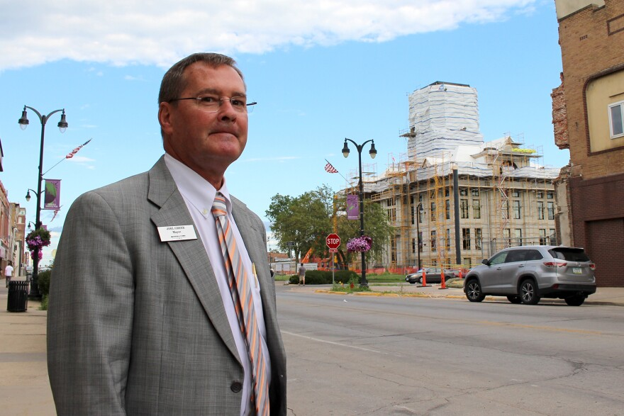 """Marshalltown Mayor Joel Greer is encouraged by the number of downtown businesses that have used the storm as a chance to make upgrades. """"For the most part the people that have been able to reopen have used the time to fix up,"""" he said."""