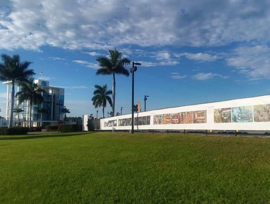 A photo of the fence exhibit at Nathan Bendeson Park