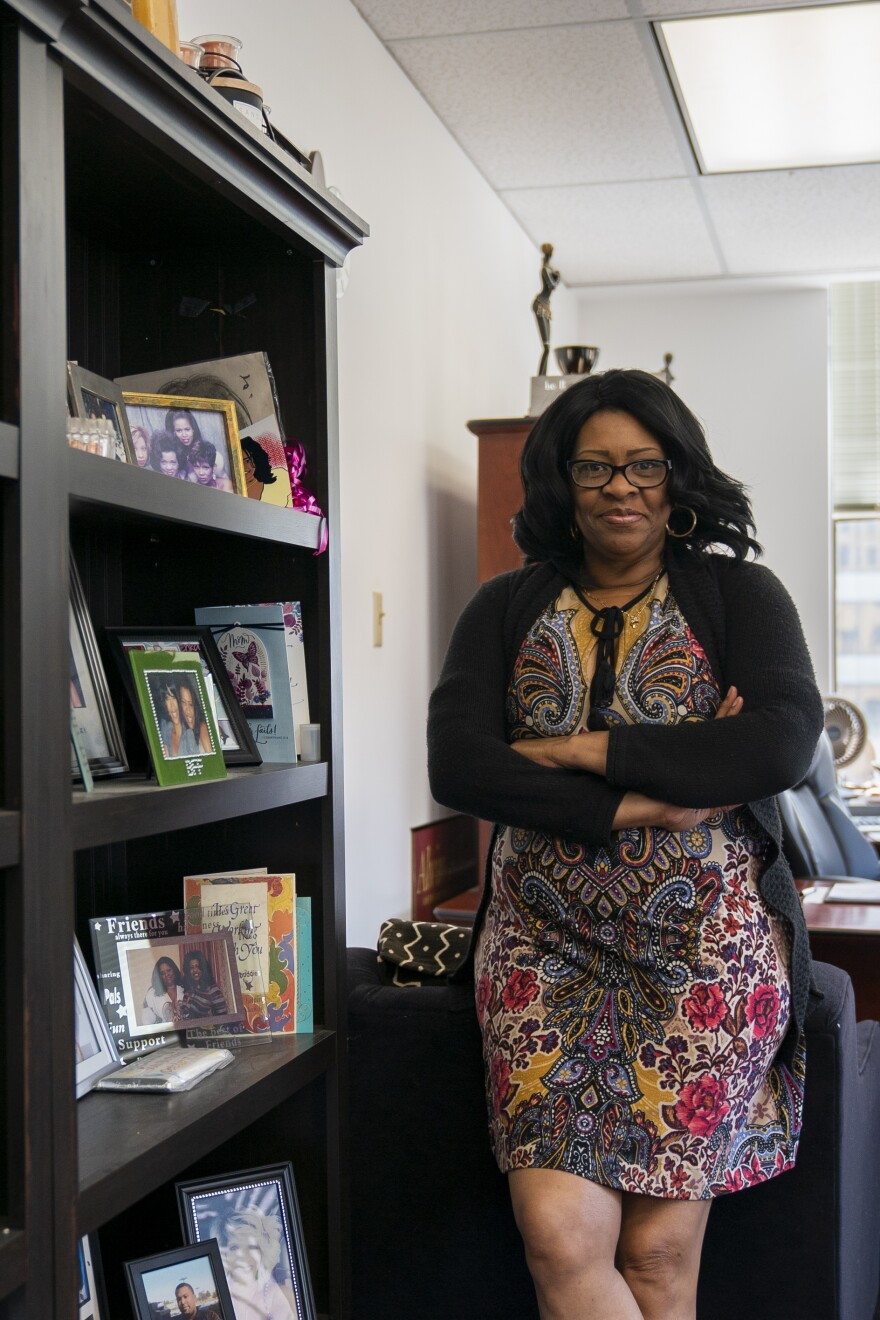 Dana Williams, the executive of the Community Wellness Project in East St. Louis, poses for a portrait. Her organization applied for a $200,991 R3 grant but wasn't awarded funding.