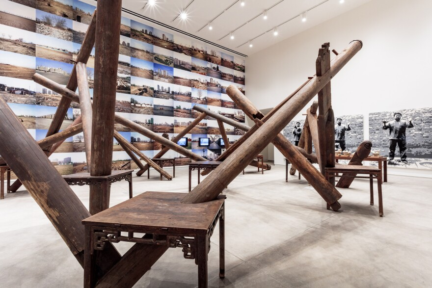 "Weiwei's ""Through"" is fashioned from the pillars of dismantled temples. [11/8/19]"