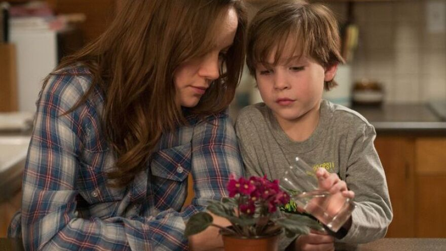 Brie Larson as Ma and Jacob Tremblay as Jack in the new movie adaptation of <em>Room.</em>