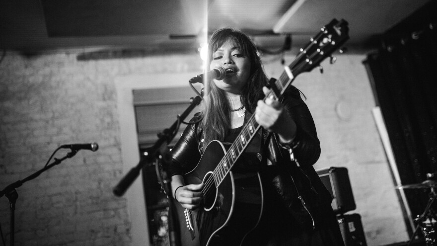 """""""A lot of people have backed me and believed in me and what I do — not because I'm an Asian chick, but because I sing and write songs,"""" singer-songwriter Melissa Polinar says."""