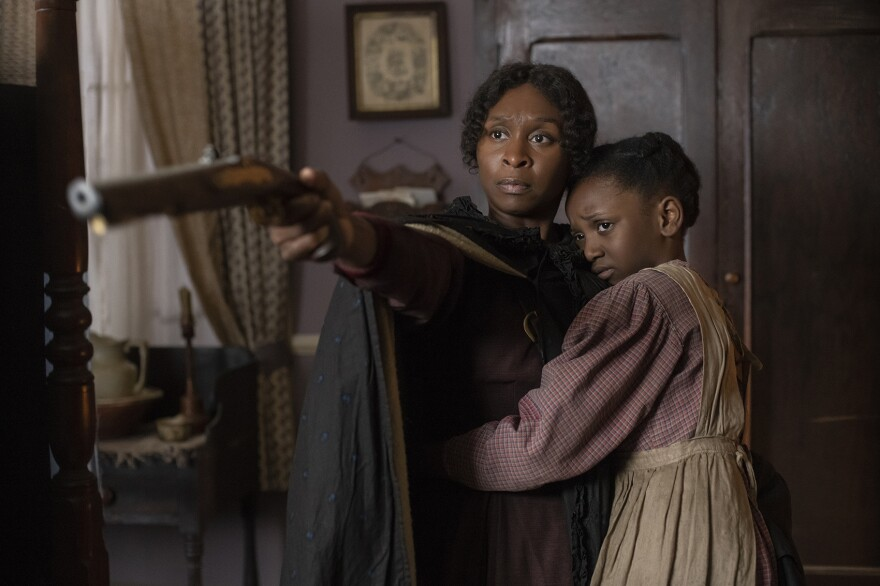 "Cynthia Erivo stars as Harriet Tubman and Aria Brooks as Anger (age 8) in ""Harriet,"" a Focus Features release. (Glen Wilson/Focus Features)"