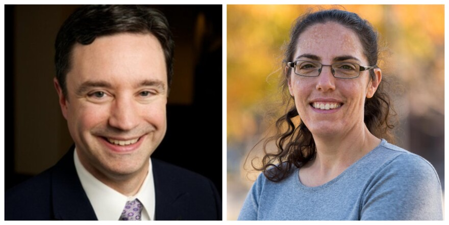 KCUR's Brian Ellison (left) and St. Louis Public Radio's Rachel Lippmann joined Friday's talk show to talk about multiple top news stories of the week.