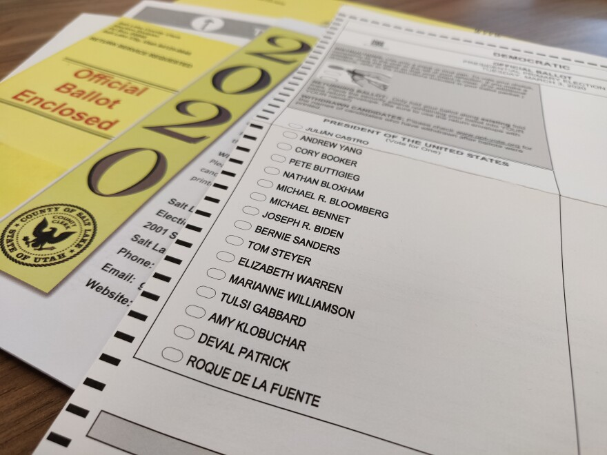 Photo of a voting ballot