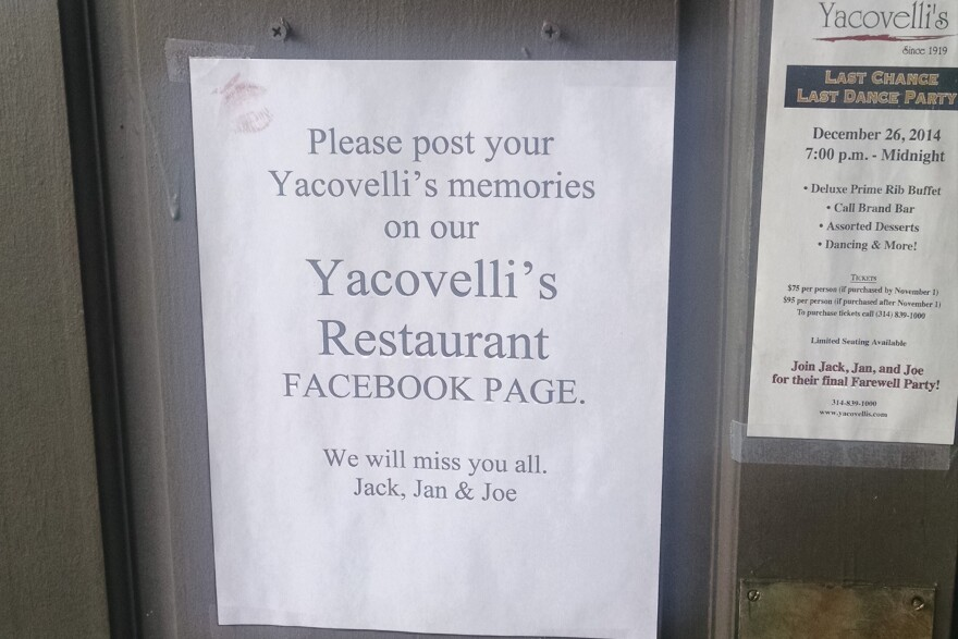 Jan Yacovelli hopes to make a book about the restaurant, including recipes, stories, and family history. The owners are inviting patrons to share their memories on the restaurant's Facebook page.