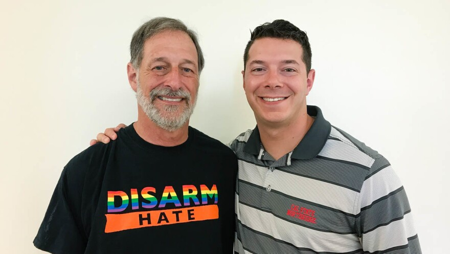 Alan Stepakoff (left) and his son Josh Stepakoff at their StoryCorps interview last August in Los Angeles.