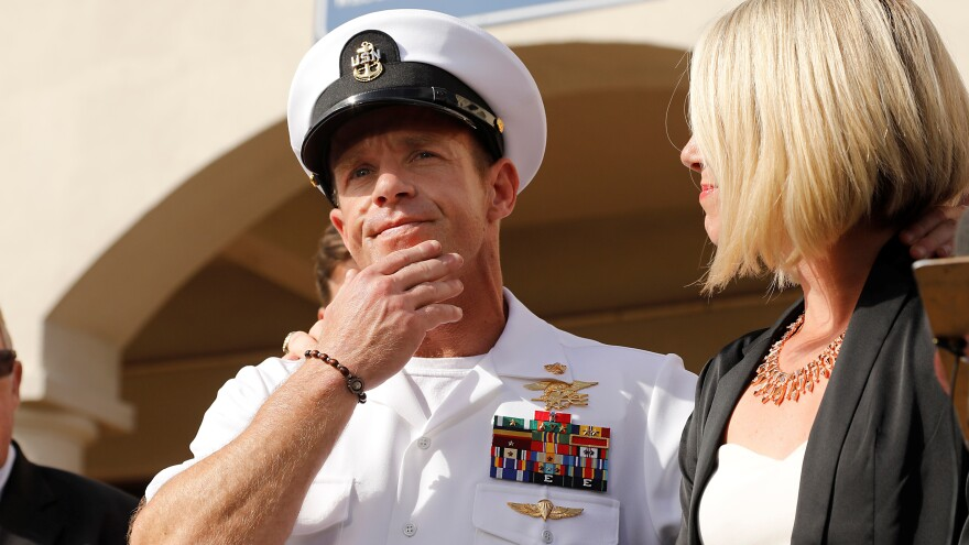 A jury sentenced Navy SEAL Special Operations Chief Edward Gallagher on Wednesday, one day after he was acquitted on the most serious charges he faced in connection with the death of a 17-year-old ISIS fighter in U.S. custody.