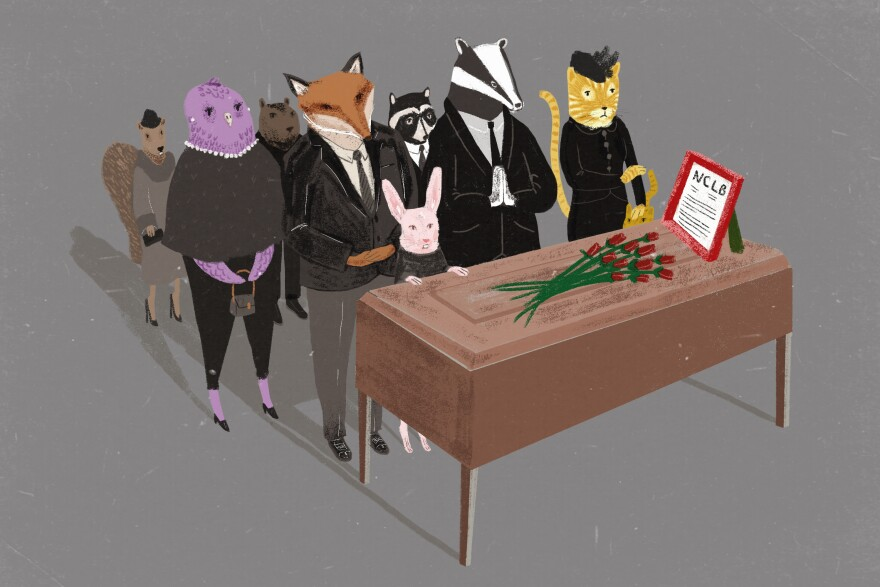 A funeral party