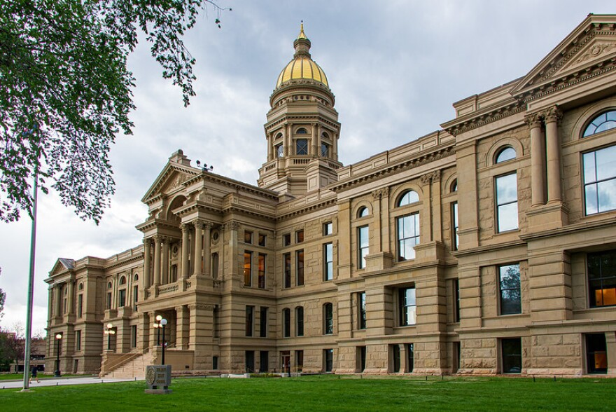 The Wyoming state capitol building