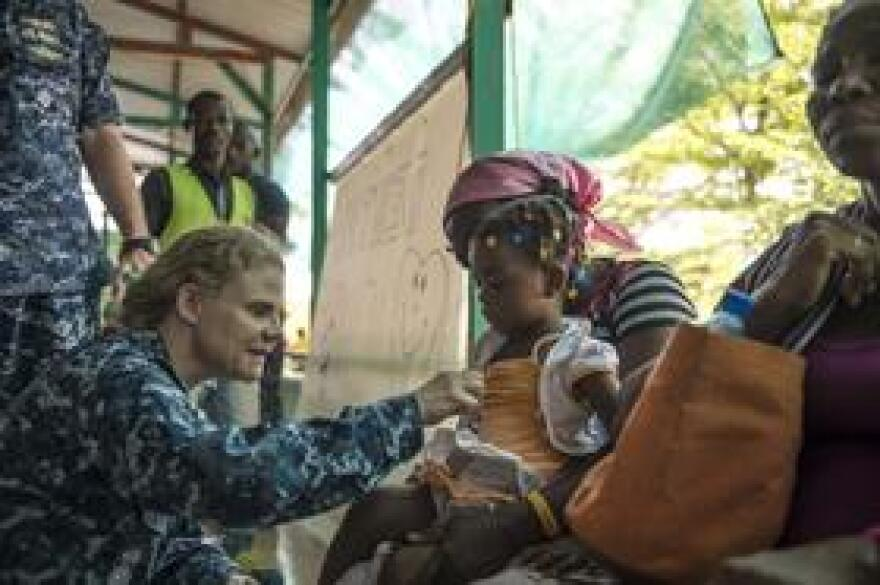 Medical staff from the USNS Comfort treating patients in Haiti in 2015.