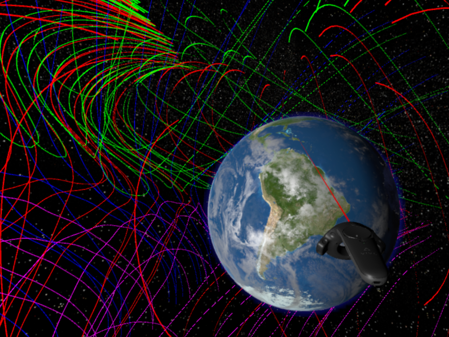 A virtual reality program developed by NASA could help scientists visualize the magnetic fields around the earth.
