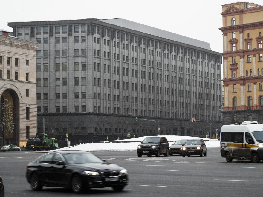 The Moscow headquarters of Russia's domestic intelligence agency, the FSB. The U.S. Treasury Department is allowing limited interactions between U.S. companies and the agency.