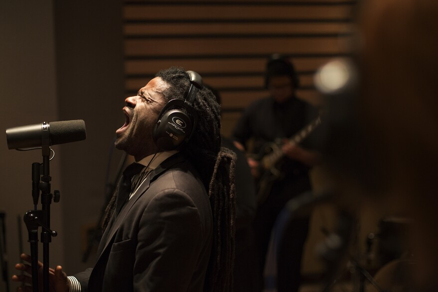 "Rev. Osagyefo Sekou performs at a listening party for ""The Revolution Has Come"" on January 26, 2016. The album will be released January 31, 2016."