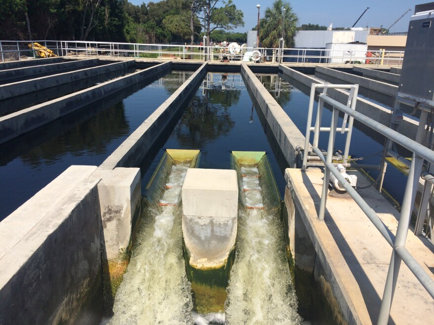 Reclaimed water is treated at the the southwest water treatment plant in St. Petersburg.