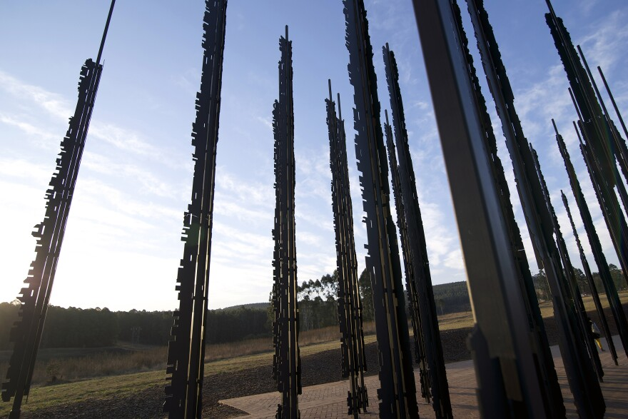 The Release is made up of 50 steel columns.