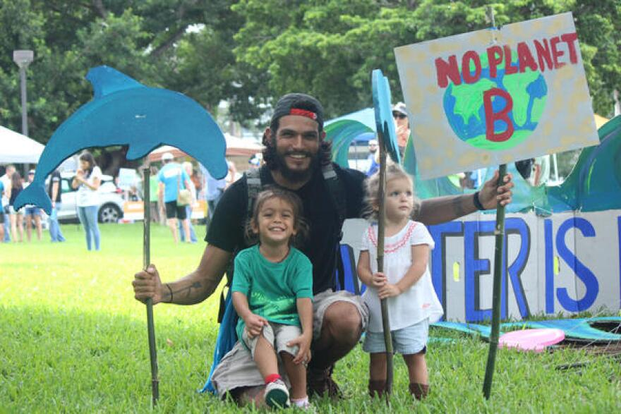 River Horan and his family live in El Portal, close to Miami Shores, and they enjoy canoeing and paddling in Florida's waterways. They took action by rallying at the Bayfront Park rally on Saturday, September 8, 2018.
