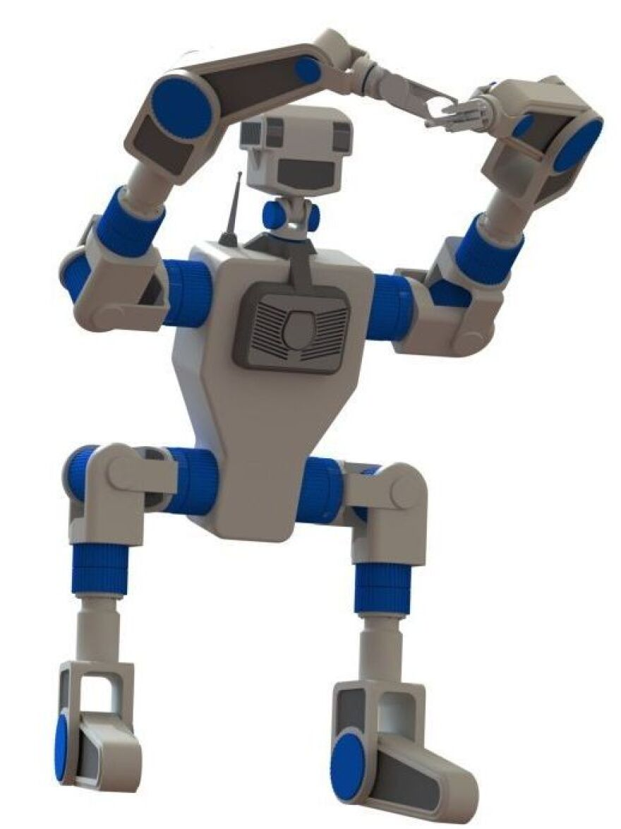 An unnamed robot that the Carnegie Mellon National Robotics Engineering Center plans to build for the DARPA Robotics Challenge.