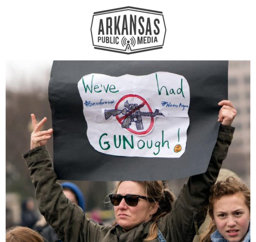 """Arkansas School Boards Association lawyer Kristen Garner says she expects student walkouts March 14 will be orderly. """"I'm concerned about counter demonstrations ... if people in the community take angry or perhaps even violent exception."""""""