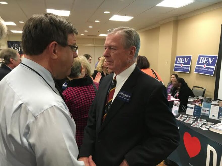 Former U.S. Attorney General John Ashcroft spent the weekend mingling with the GOP faithful. His son, Jay Ashcroft, is running for secretary of state.