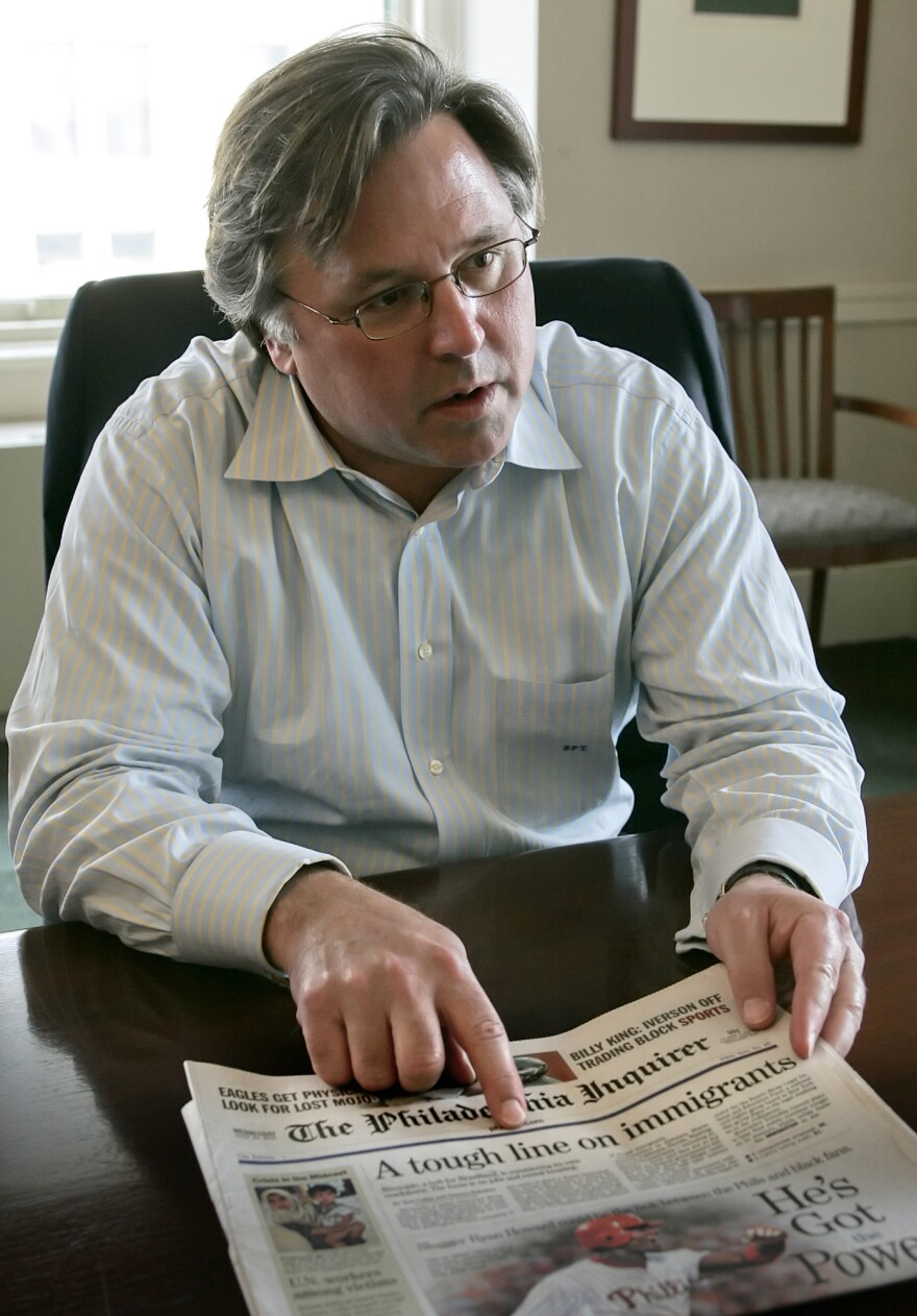 Brian Tierney, shortly after buying <em>The Philadelphia Inquirer</em> and <em>Philadelphia Daily News </em>in 2006. The papers, struggling with debt, have since changed hands twice.