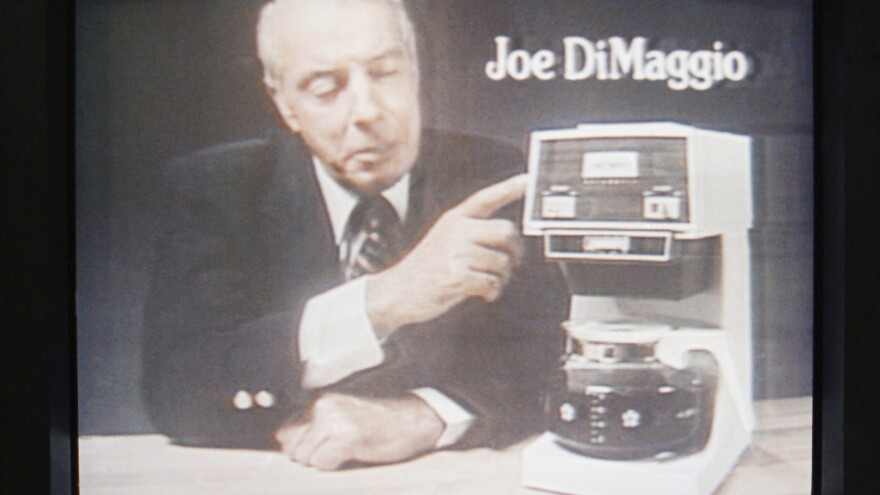 In the 1970s, Mr. Coffee became iconic, an American byword for drip brewing. By Christmas 1977, department stores were selling more than 40,000 Mr. Coffees <em>a day</em>. Credit for some of that success goes to the machine's longtime pitchman, former New York Yankee Joltin' Joe DiMaggio, seen here in a television commercial from 1978.