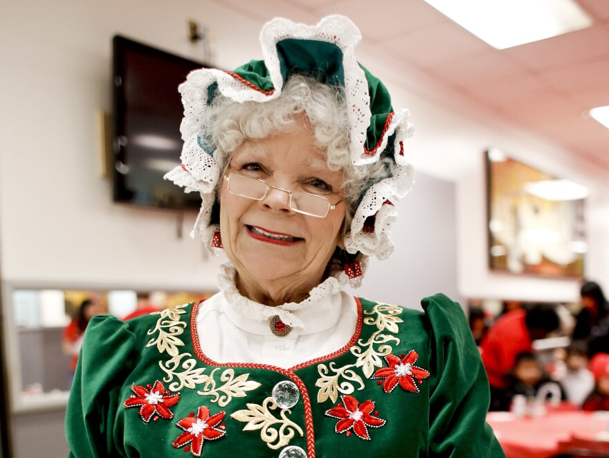 "Mrs. Claus poses in 2012 in New York City. Five years ago, ""there was rarely a standalone opportunity for Mrs. Claus,"" says Stephen Arnold, president of the International Brotherhood of Real Bearded Santas. But times are changing up North."