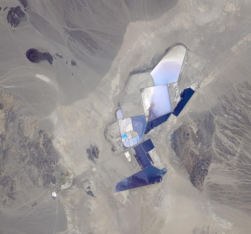 An aerial look at the Silver Peak, Nev. lithium mining operation. The project is currently the only operating lithium mine in the United States.