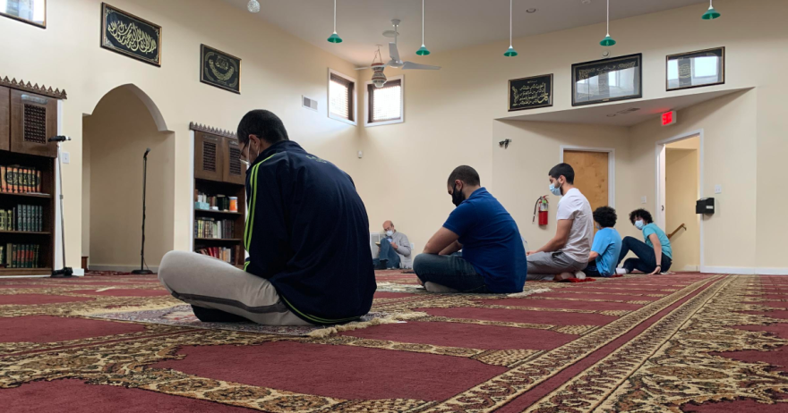 Inside the Muslim Association of Huntington, a mosque in Huntington, W.Va., Friday, May 22, 2020