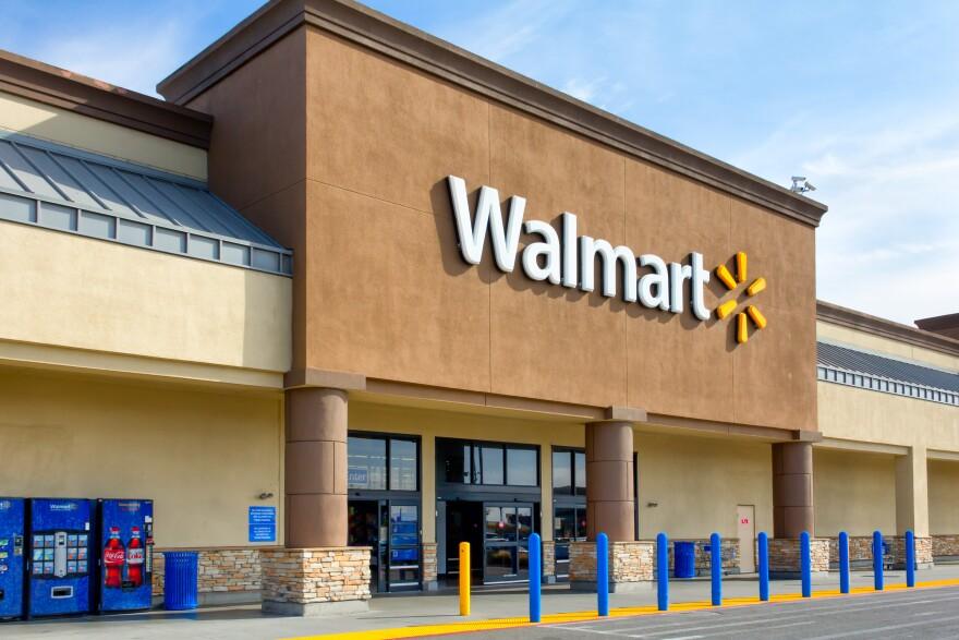 front of Walmart store