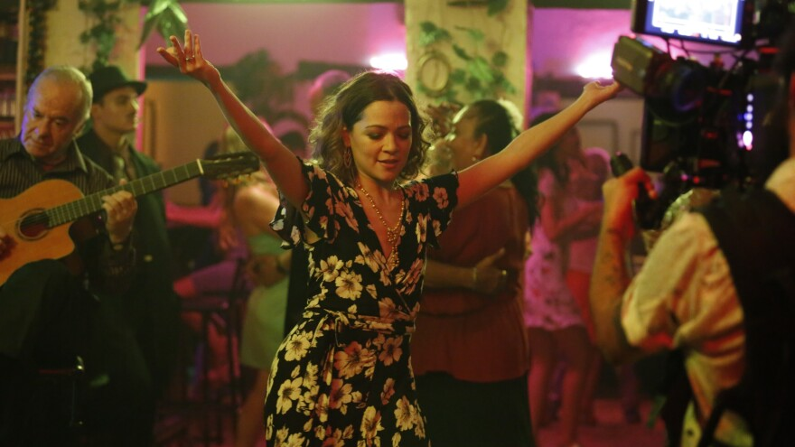 Natalia Lafourcade on the set of her latest video.