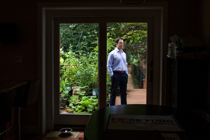 Jason Lindsay, executive director of the PRIDE Fund to End Gun Violence, at his Washington, D.C., home on Aug. 9, 2016.
