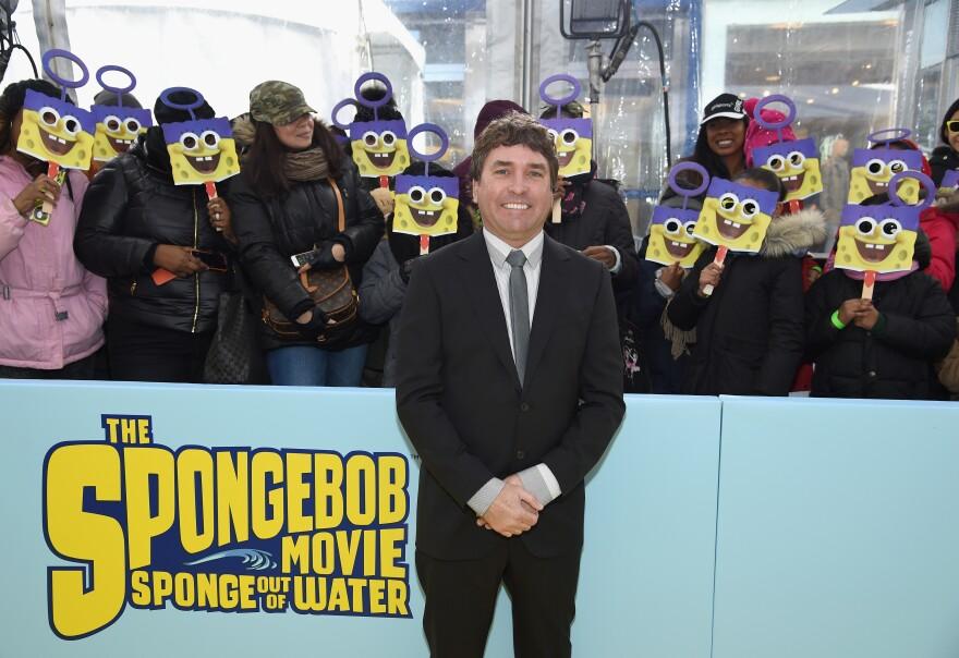 "<em>SpongeBob SquarePants</em> creator Stephen Hillenburg, shown here at the 2015 world premiere of ""The SpongeBob Movie: Sponge Out Of Water,"" has died at 57."