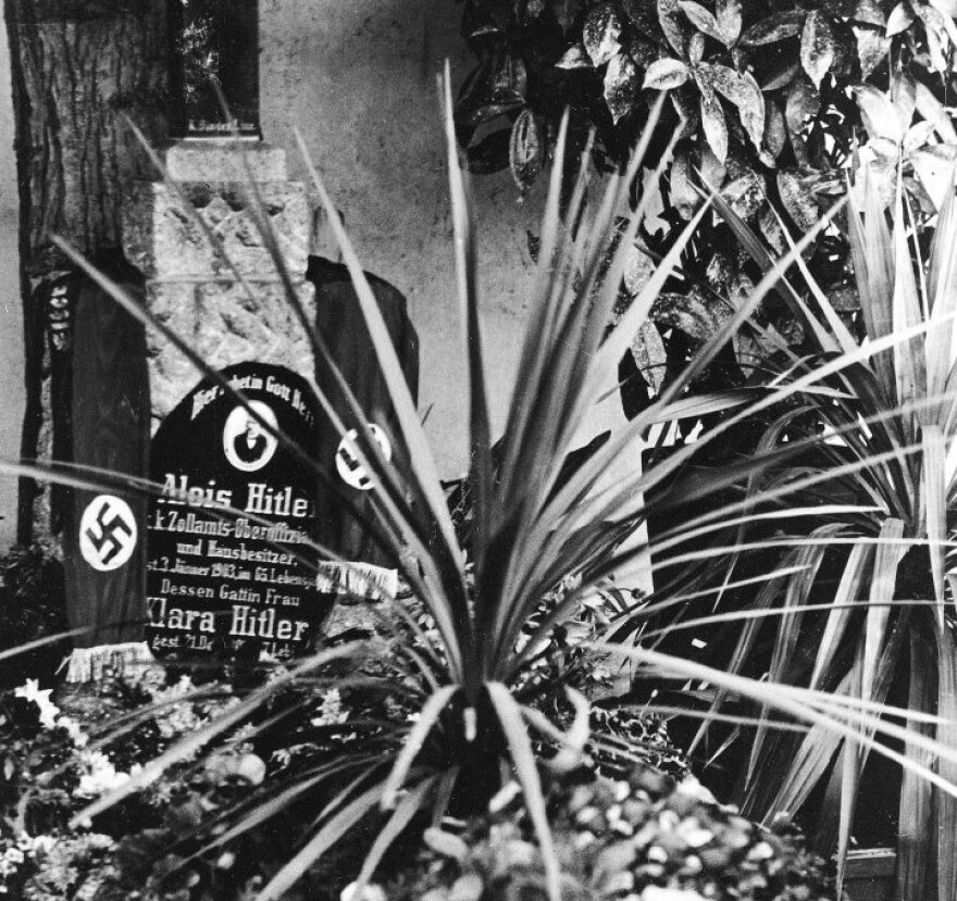 This undated file photo shows the grave of Alois and Klara Hitler, the parents of German Nazi Dictator Adolf Hitler, in Leonding near Linz, Austria.