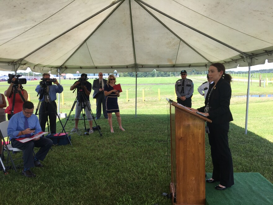 Michelle Glady, a spokesperson for the Florida Department of Corrections, spoke to the press before Mark Asay's execution Thursday.