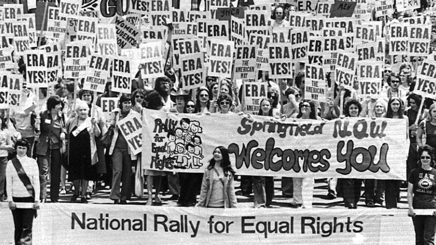 Illinois has ratified the Equal Rights Amendment, more than 40 years after an estimated 10,000 people marched on the Capitol building in Springfield, Ill., to urge approval.