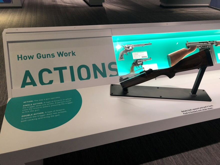 Some of the Cody Firearms Museum exhibits focus on the design and mechanics of guns.