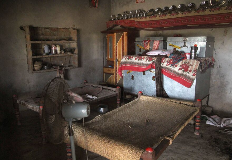 This photograph, taken on July 26, 2017, shows the room where a Pakistani teenage girl was raped as an act of revenge ordered by the tribal council in Muzaffarabad, a suburb of the city of Multan.