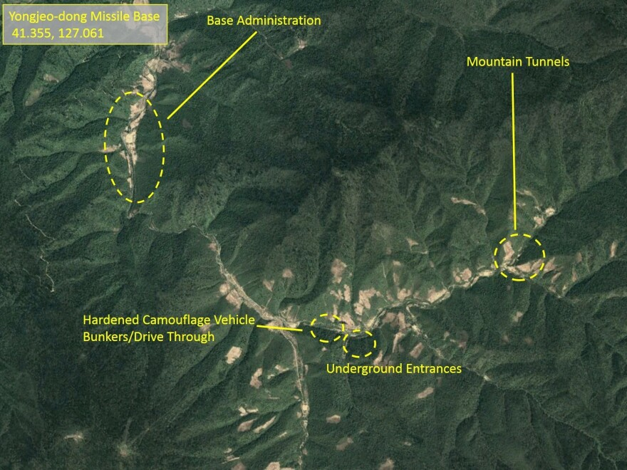 North Korea has not tested any long-range missiles following a summit between President Trump and North Korea's Kim Jong Un. But it continues to expand its bases for such missiles.