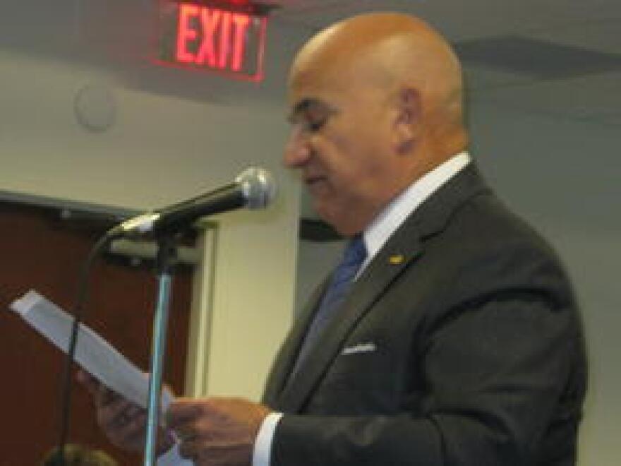 Jackson Health President and CEO Carlos Migoya addresses the LIP Hearing in Doral Thursday.