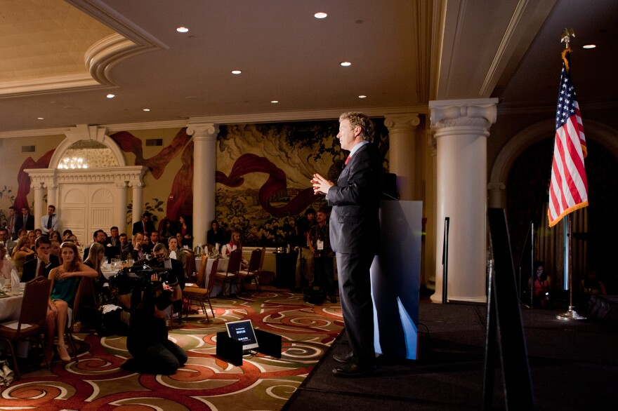 Rand Paul speaks at the Road to Majority conference on Thursday.