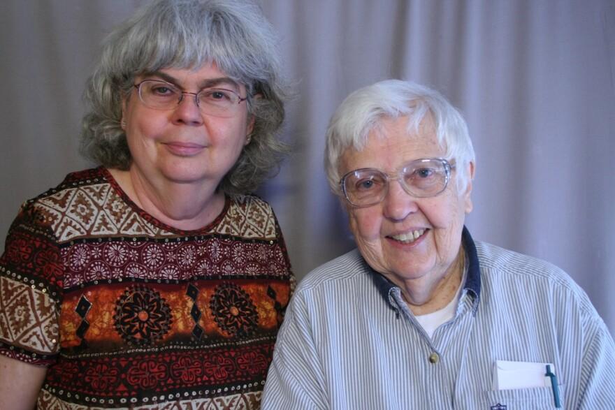 Joy Schwab and Mary Morgan