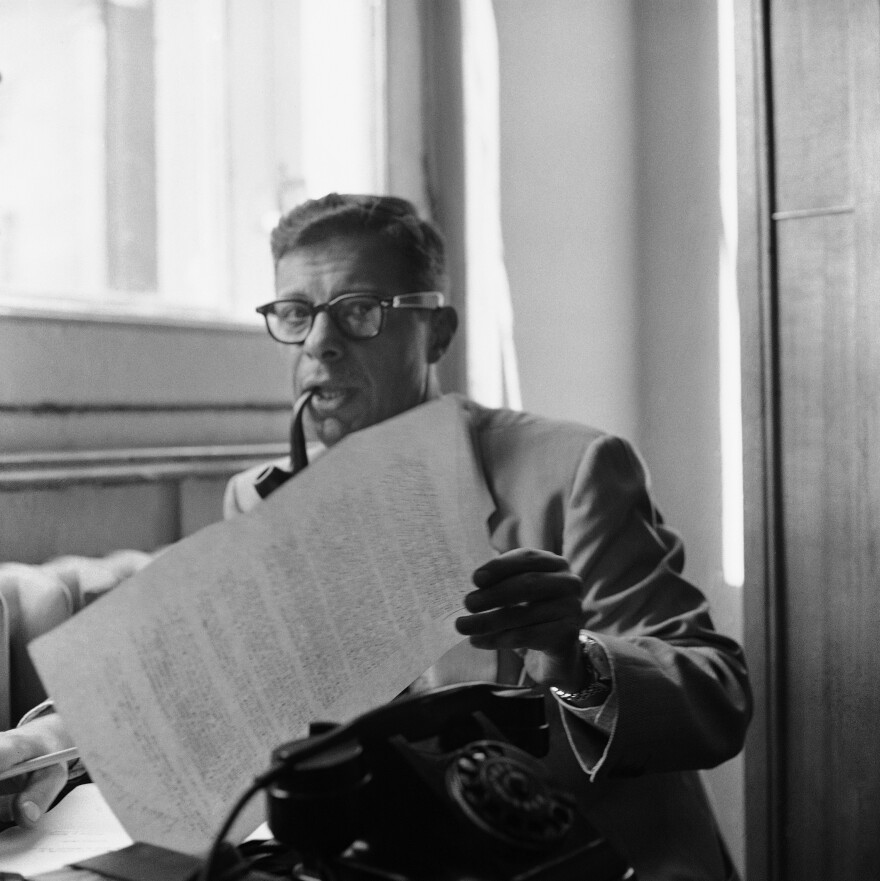 Daniel Schorr spent 20 years as a foreign correspondent. He is shown above in 1957.