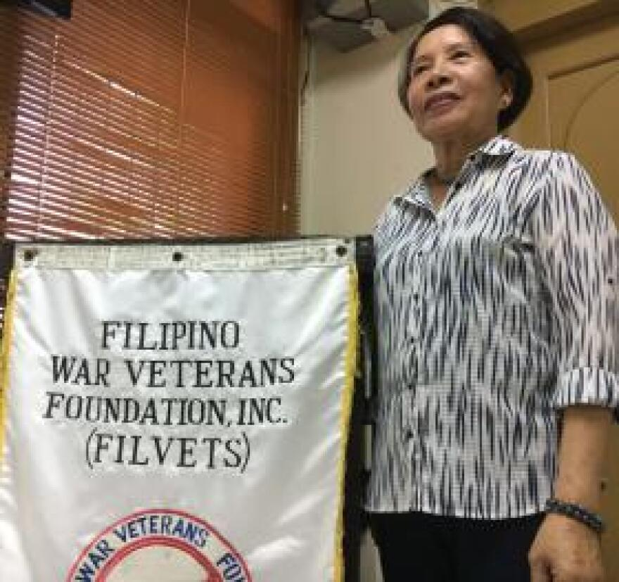 "Perla Teves, the daughter of a Filipino veteran and an advocate in Manila, continues to push for U.S. recognition for the declining number of World War II veterans. ""They better make it fast because time is running out,"" she said."
