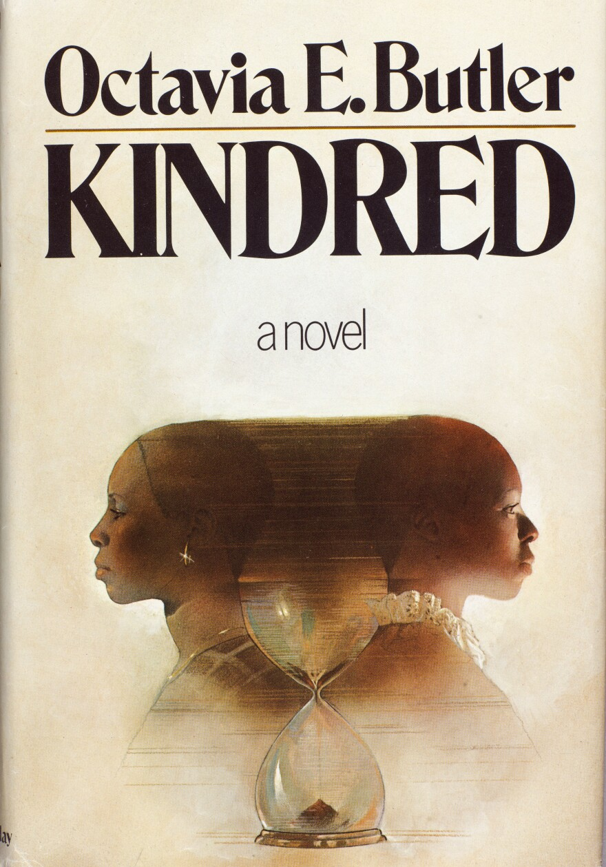 Cover for the first edition of <em>Kindred</em>, published by Doubleday in 1979