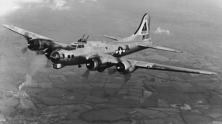 A U.S. Air Force Boeing B-17 Flying Fortress, circa 1945.