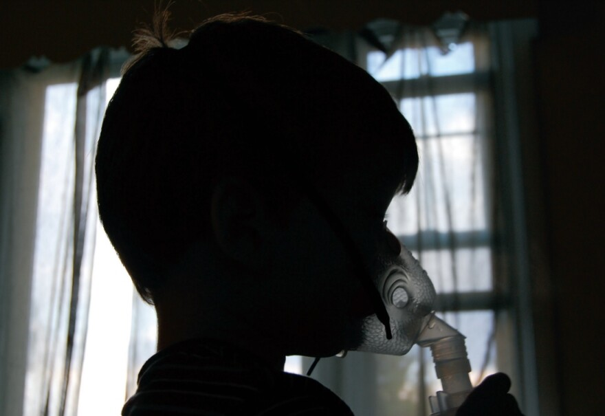 photo of child with asthma